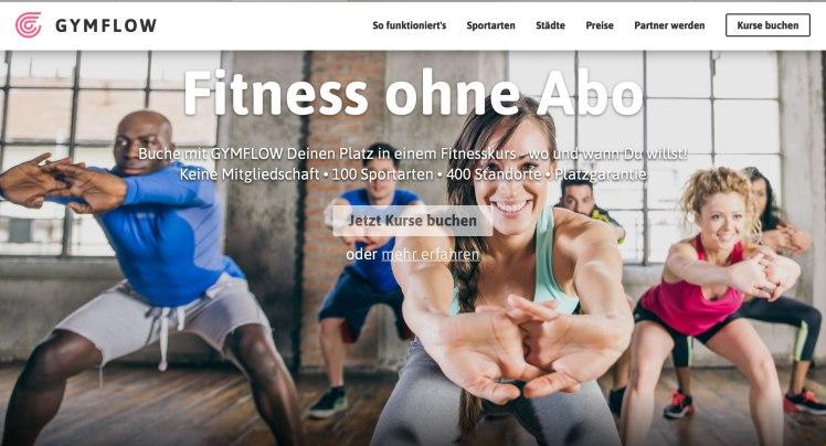 Gymflow-Startseite